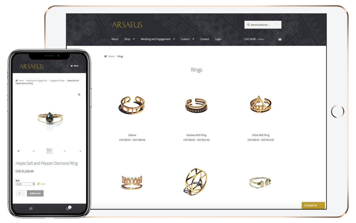 Arsaeus Designs rings for men and women